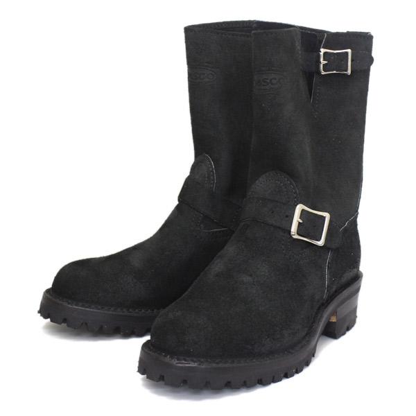 Wescoウエスコ 正規ディーラー Boss ボス Black Roughout黒裏革,9height,#100 sole,ALLBlack Stitching,エンジニアブーツ BS81