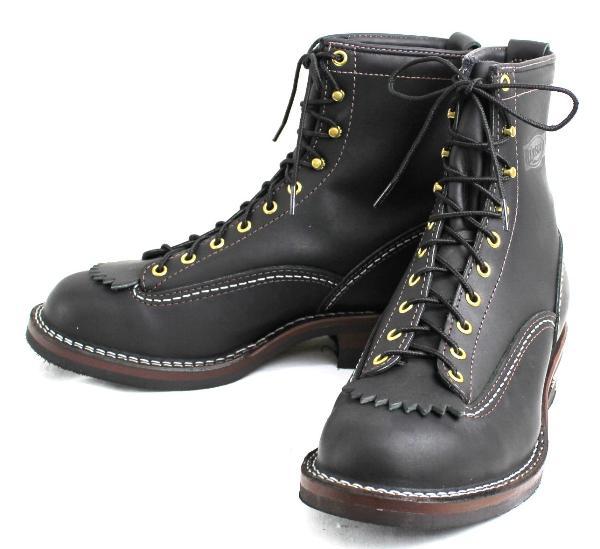 正規ディーラー Wescoウエスコ Jobmasterジョブマスター Black ブラック, Lace to Toe, 8height,#430sole Black Shoelace JM31