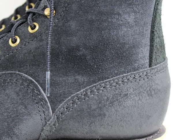 正規 Wescoウエスコ Jobmasterジョブマスター Black Rough Out, Semi Lace to Toe,All Black Stitch,10height,#1010sole JM33