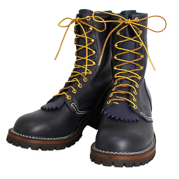 正規 Wescoウエスコ Jobmasterジョブマスター Navyネイビー Leather, Regular Toe, 10height,#100sole JM43