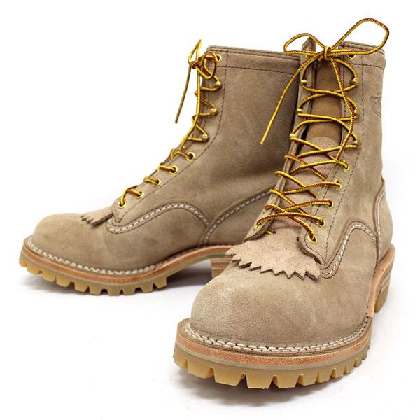 正規 Wescoウエスコ Jobmasterジョブマスター Burlap Leather,Semi Lace to Toe,8height,#100HoneySole,Boss Toe JM58