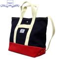 HERITAGE LEATHER CO.(ヘリテージレザー) NO.8093 Cotton Webbing Canvas Bag(コットンウェビングキャンバスバッグ) Navy/red HL136