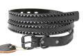 正規取扱HTC BLACK  BT015R Black Pyramid Studs Black Rough Out Belt(ブラックピラミッドスタッズブラックラフアウトベルト)