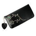 正規取扱 HTC #FLOWER11TQ(フラワー11ターコイズ) TYPE 1 MEDIUM WALLET(タイプ1ミディアムウォレット)財布 Black ブラック