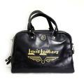 正規取扱店 Lewis Leathers(ルイスレザー) LEATHER BOSTON BAG(レザーボストンバッグ) BLACK ブラック