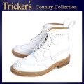 正規取扱店 Tricker's トリッカーズ 2508M COUNTRY BROGUE(カントリーブローグ) ダブルレザーソール ホワイトアニリンカーフ TK012