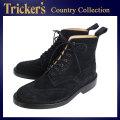 正規取扱店 Tricker's トリッカーズ 2508M COUNTRY BROGUE(カントリーブローグ) ダブルレザーソール ブラックレペロスエード TK013