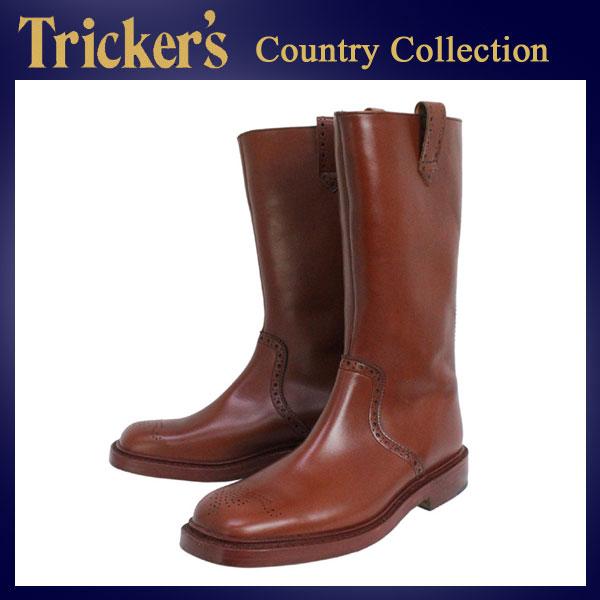 正規取扱店 Tricker's トリッカーズ 6672M COUNTRY HIGH WEG BROGUN(カントリーハイウェッジブローグ) マロンアンティーク TK008
