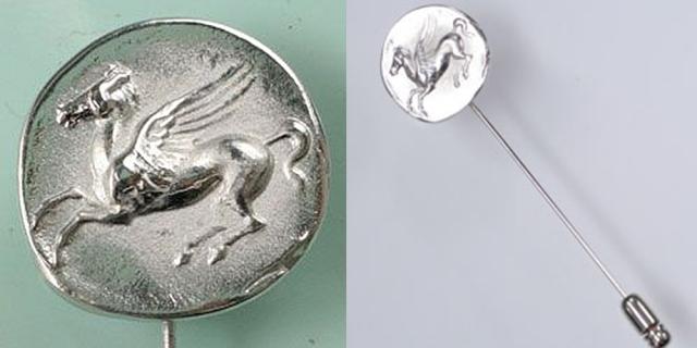 古代ギリシャ レプリカコイン ペガサス ラペルピン