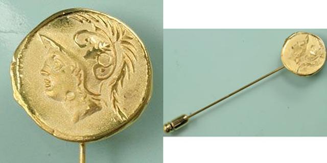 古代ローマ レプリカコイン 軍神マルス ラペルピン