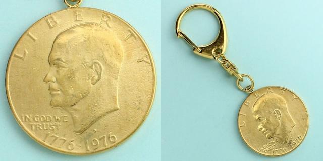 コインキーホルダー アメリカ 1976 1ドル アイゼンハワー