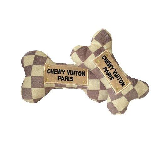 オートディ ギティドッグ Haute Diggity Dog Chewy Vuiton Checker Bone Toy
