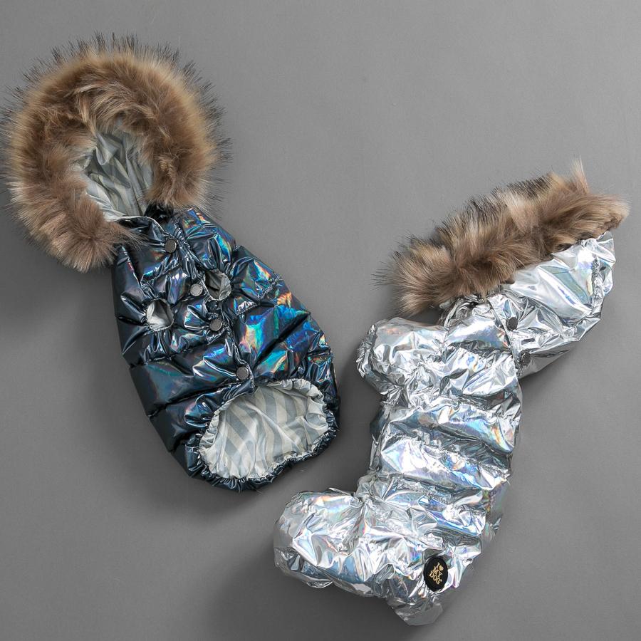 ルイスドッグ louisdog Goose Down/Hologram Fur(Hoody ネイビー)