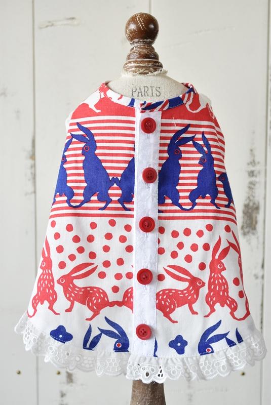 プエルト PUERTO ラビットガーデンエプロン by makumo textile