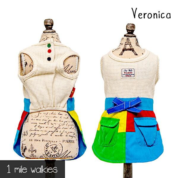 ワンマイルウォーキーズ 1 mile walkies ベロニカ Veronica Stitching One Piece