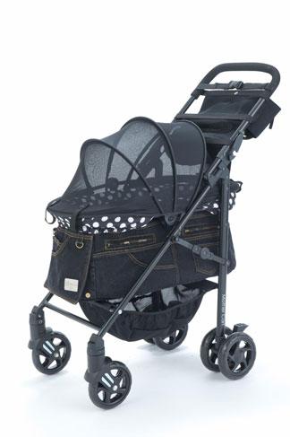 Mother Cart(マザーカート) ラプレ Lサイズ ブラックデニム・ホワイトステッチ(前面メッシュ新型)
