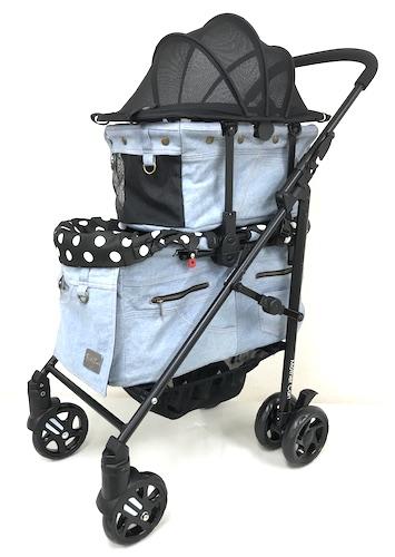 マザーカート Mother Cart ラプレ Lサイズ デニム上下段