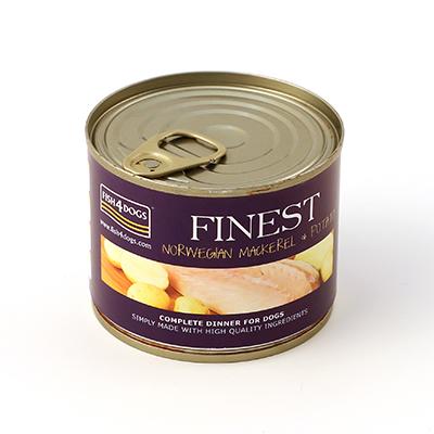 フィッシュ4 ドッグ FISH4DOGS サバポテト 缶詰 185g