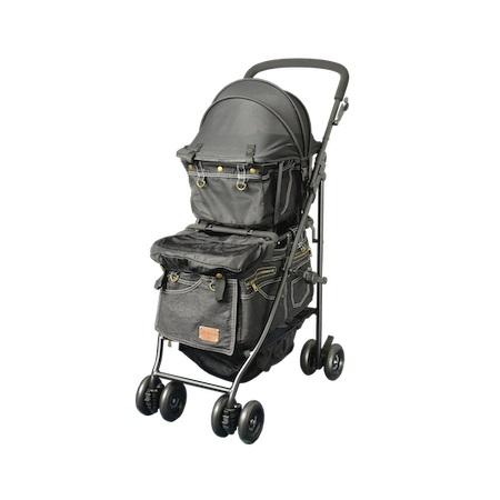 マザーカート Mother Cart アジリティー ブラックデニム (ゴールドステッチ) 上下段セット