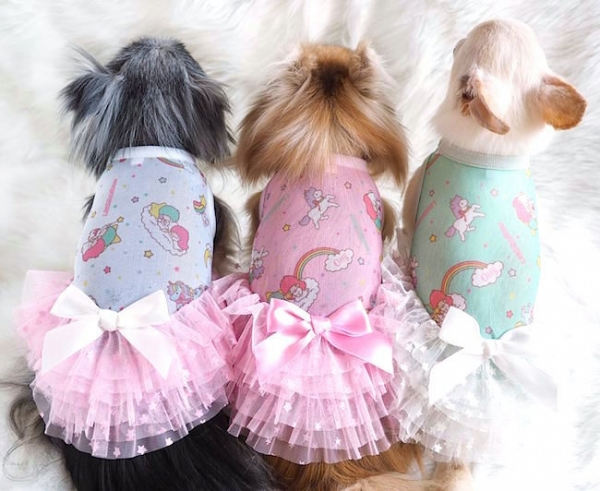 オッティ Otty ×Little Twin Stars(キキ&ララ)・COOLメッシュワンピ☆