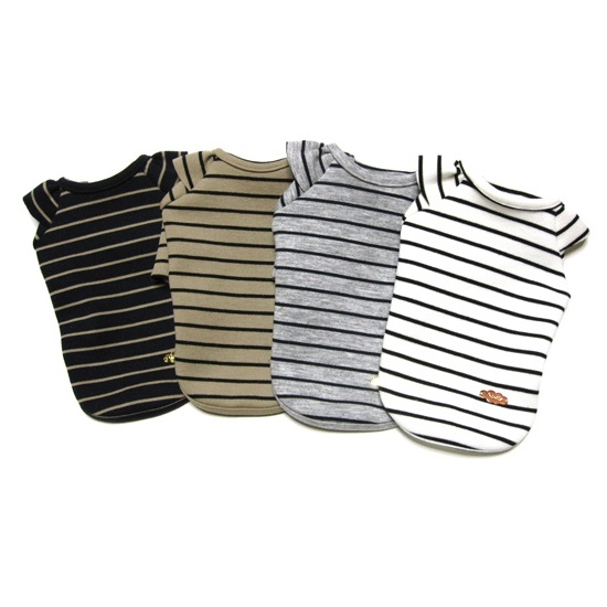 ミムット mimtto Striped t-shirt