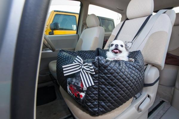 ボンボンコピーヌBonBonCopineキルティングドライブボックスベッド【小型犬ドライビングベッド/ドライブ車ベッド】