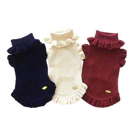 ミムット mimtto Ruffle sleeve knit