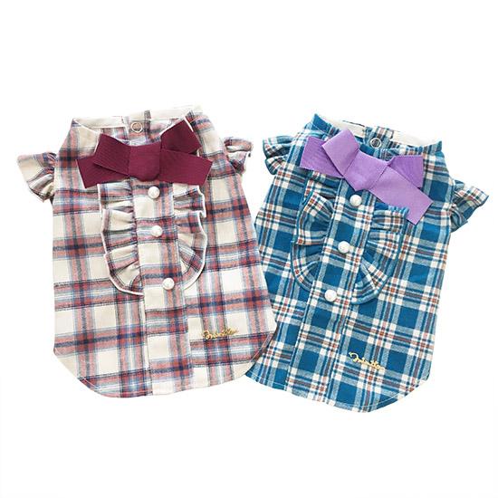 ミムット mimtto Flannel ruffle shirt
