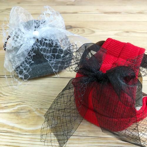 GARDEN OF EDEN×GODPIVA(ゴッドピヴァ) チュールリボンニット帽