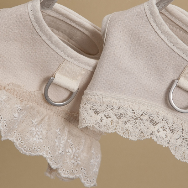 louisdog (ルイスドッグ) Ecru Linen Harness Set