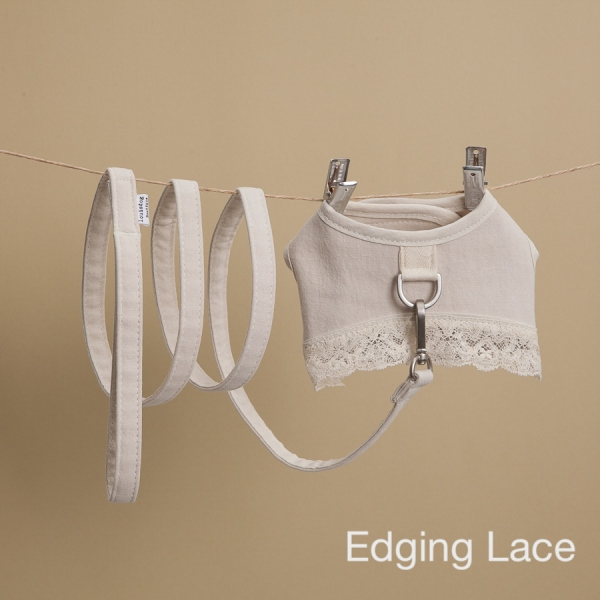 louisdog (ルイスドッグ) Ecru Linen Harness Set