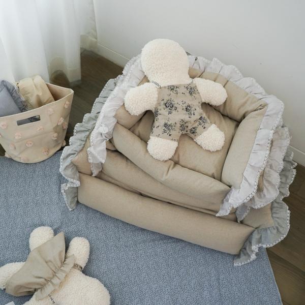 louisdog(ルイスドッグ)LaLaBoom/Linen【小型犬カドラーベッドクッションセレブ】