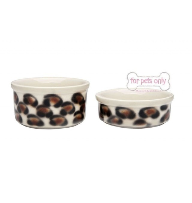 フォーペッツオンリー for pets only Teacup Bowl Set Leopard (Art. 3011)