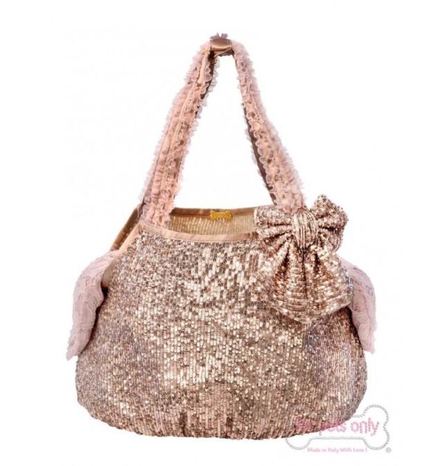フォーペッツオンリー for pets only Rose Gold Bag (AI2019-B4-S)【小型犬 犬用 ペット キャリーバッグ セレブ】
