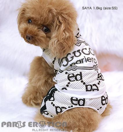 PARIERO(パリエロ)MonogramMESHCoveralls[先行予約]【小型犬犬用ペットつなぎカバーオール】