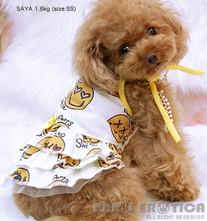 PARIERO(パリエロ)SmileCoolmotionDress[先行予約]【小型犬犬服ウエアワンピースドレスセレブ】
