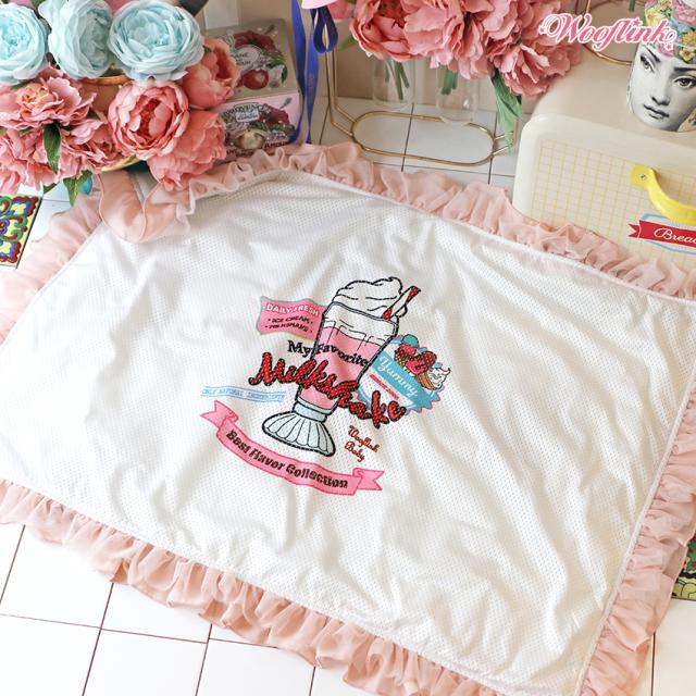 ウーフリンクWOOFLINKMILKSHAKEBLANKET【小型犬ブランケット毛布マットラグセレブ】