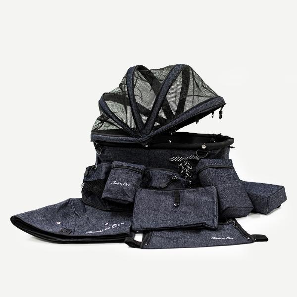 天使のカート シャンアンジェ デニム バイ バンディット NEW DENIM BY BANDIT NAVY(バッグのみ)