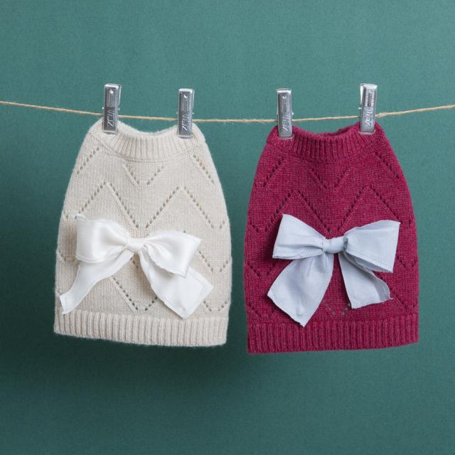 ルイスドッグ louisdog Ribbon Pointelle Cashmere Sweater