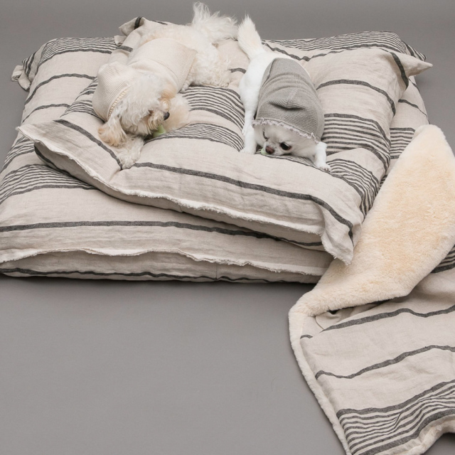 ルイスドッグ louisdog Stripes Linen Cushion