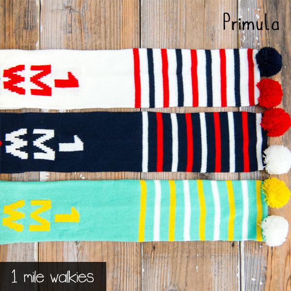 ワンマイルウォーキーズ 1 mile walkies プリムラ Primula Logo Scarf