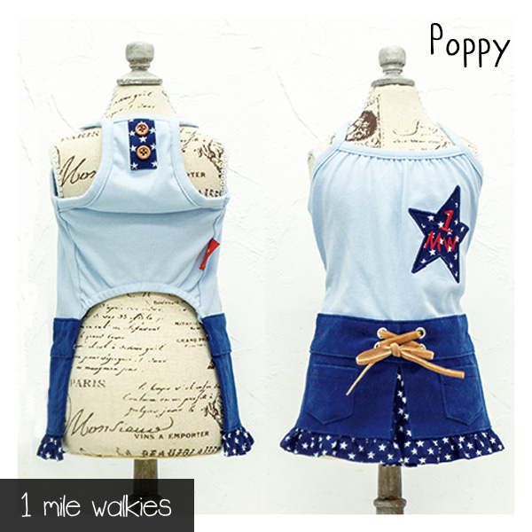 ワンマイルウォーキーズ 1 mile walkies ポピー Poppy Corduroy One Piece
