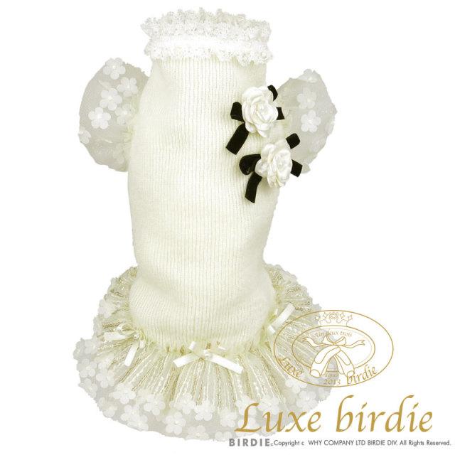 リュクスバーディ Luxe birdie カメリアチュチュワンピース WHITE