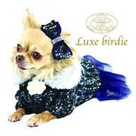 リュクスバーディ Luxe birdie ツイードココドレス NAVY
