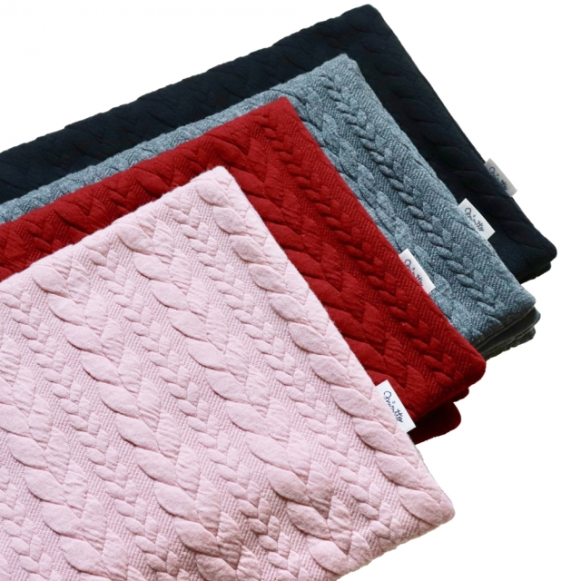 ミムット mimtto Cable Knit Jersey Blanket