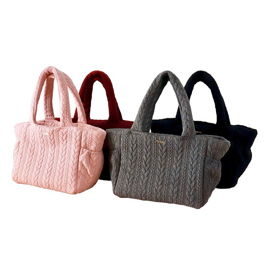 ミムット mimtto Cable Knit Jersey Dog Carrier