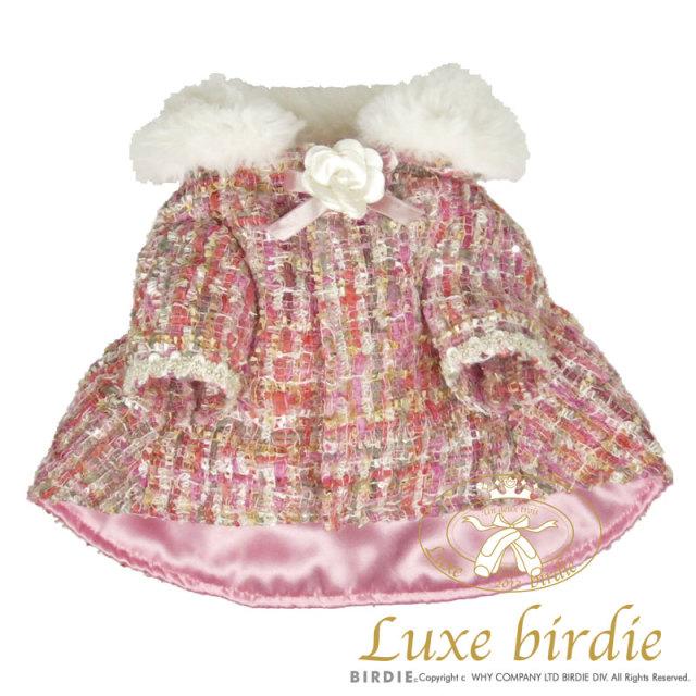 リュクスバーディ Luxe birdie ツイードココケープ PINK
