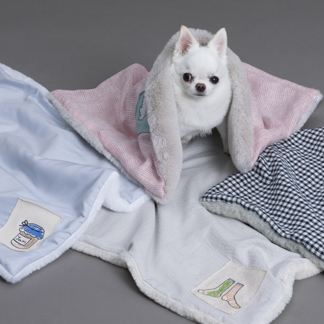 ルイスドッグ louisdog Applique Blanket