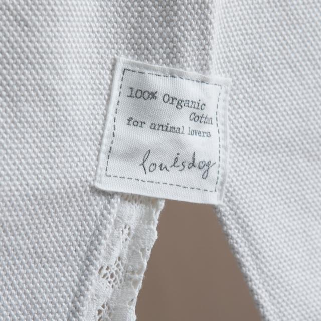 ルイスドッグ louisdog Applique Organic Peekaboo/Oxford(エッグ/ライトグレー)
