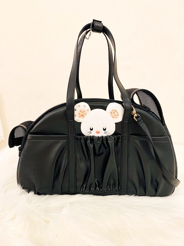 フォーペッツオンリー for pets only TOPOMIO Carry Bag Borsa nero